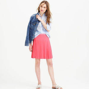 J Crew Stitched Down Pleated Mini Skirt Coral 0